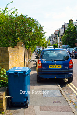Blocked pavement in Oxford