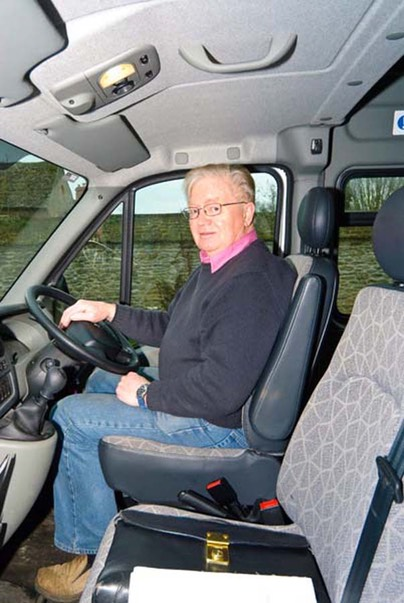 Community Bus Volunteer Driver Jonny Hudson
